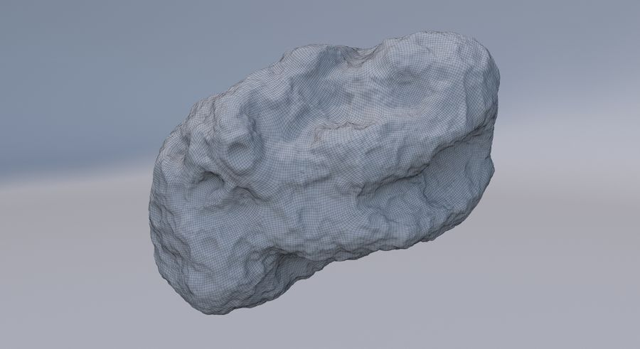 Asteroid royalty-free 3d model - Preview no. 13