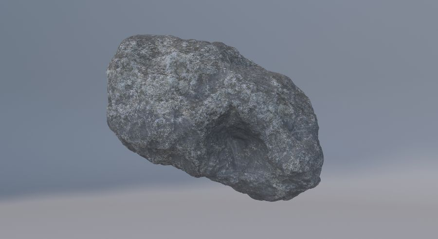 Asteroid royalty-free 3d model - Preview no. 12