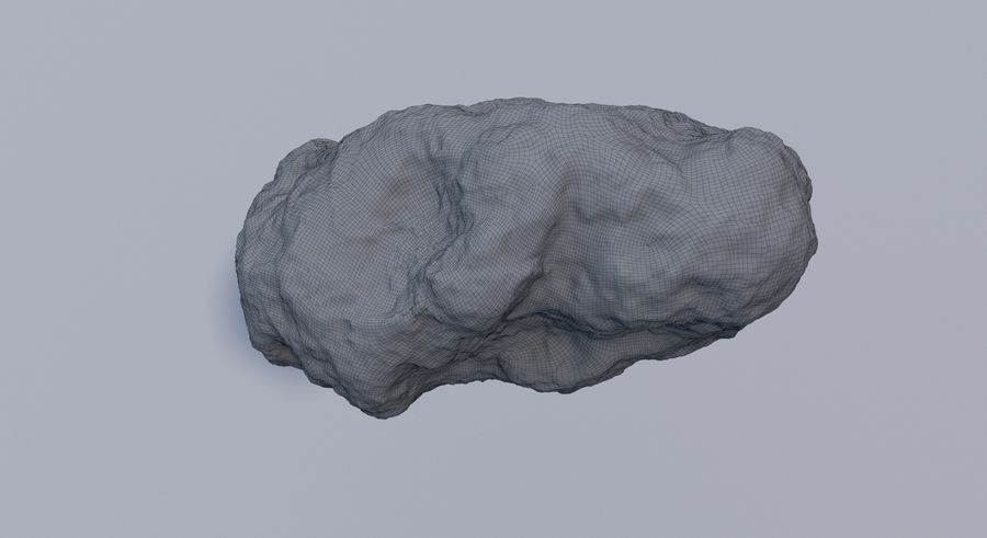 Asteroid royalty-free 3d model - Preview no. 15