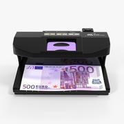 Ultraviolet Counterfeit Detector and 500 Euro 3d model