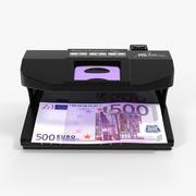 紫外线验钞机和500欧元 3d model