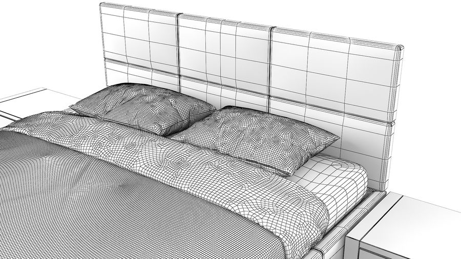 Yatak Odası Takımı royalty-free 3d model - Preview no. 13