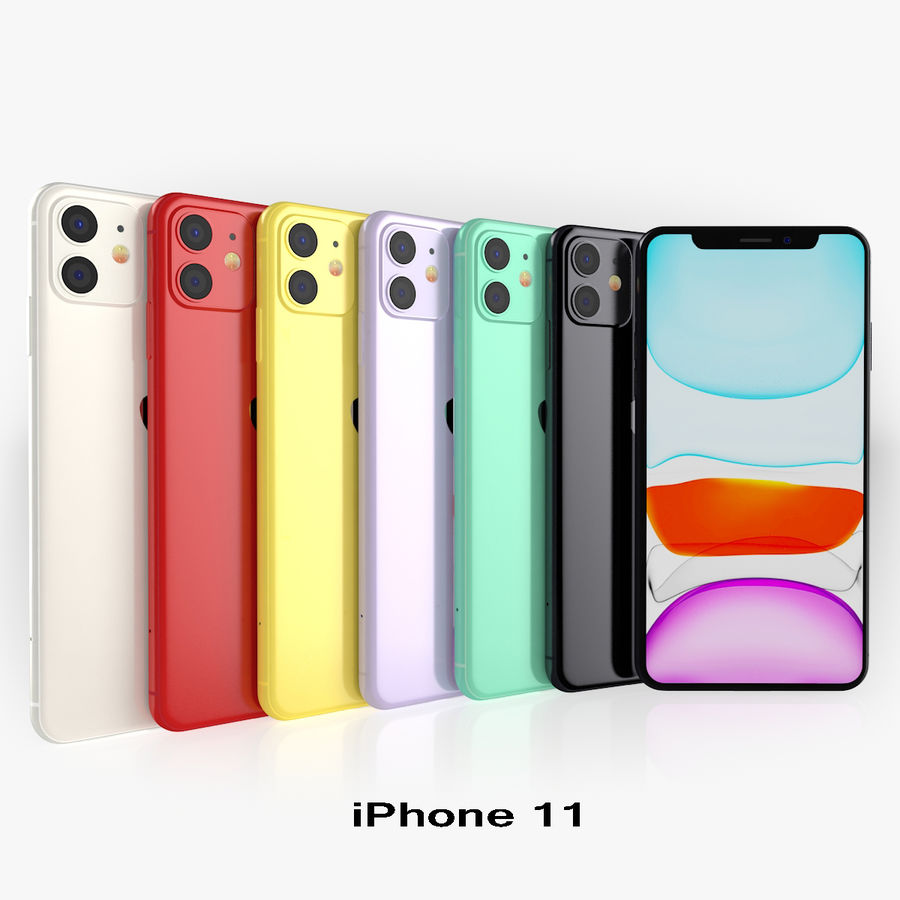 iPhone 11 Pro e iPhone 11 Pro Max e iPhone 11 royalty-free 3d model - Preview no. 21