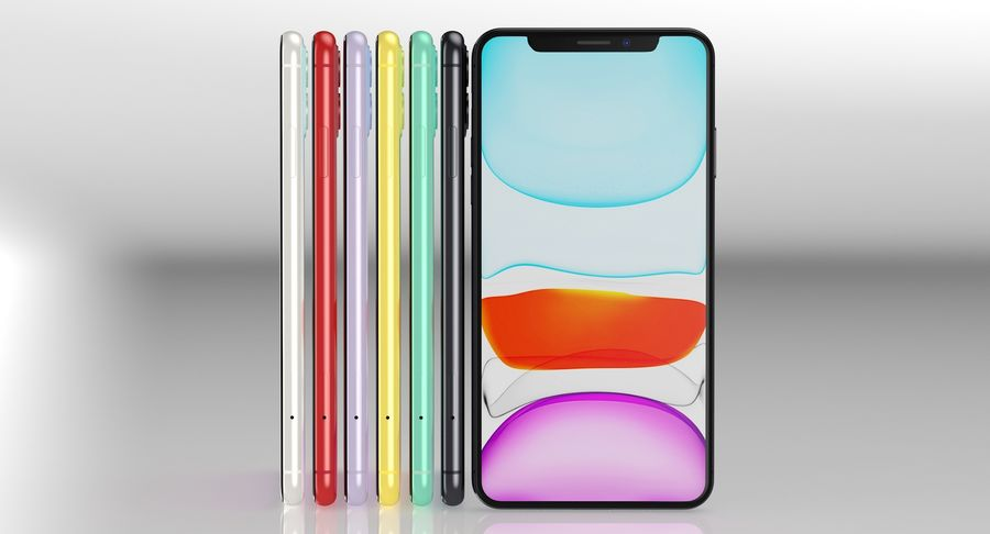 iPhone 11 Pro e iPhone 11 Pro Max e iPhone 11 royalty-free 3d model - Preview no. 55