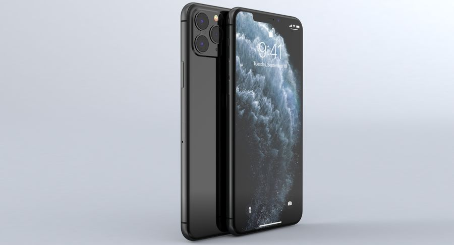 iPhone 11 Pro e iPhone 11 Pro Max e iPhone 11 royalty-free 3d model - Preview no. 11