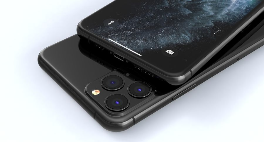 iPhone 11 Pro e iPhone 11 Pro Max e iPhone 11 royalty-free 3d model - Preview no. 7