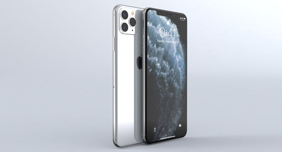 iPhone 11 Pro e iPhone 11 Pro Max e iPhone 11 royalty-free 3d model - Preview no. 32