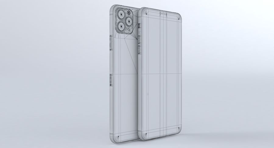 iPhone 11 Pro e iPhone 11 Pro Max e iPhone 11 royalty-free 3d model - Preview no. 36