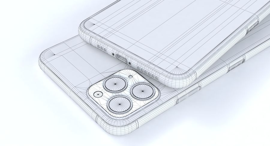 iPhone 11 Pro e iPhone 11 Pro Max e iPhone 11 royalty-free 3d model - Preview no. 17