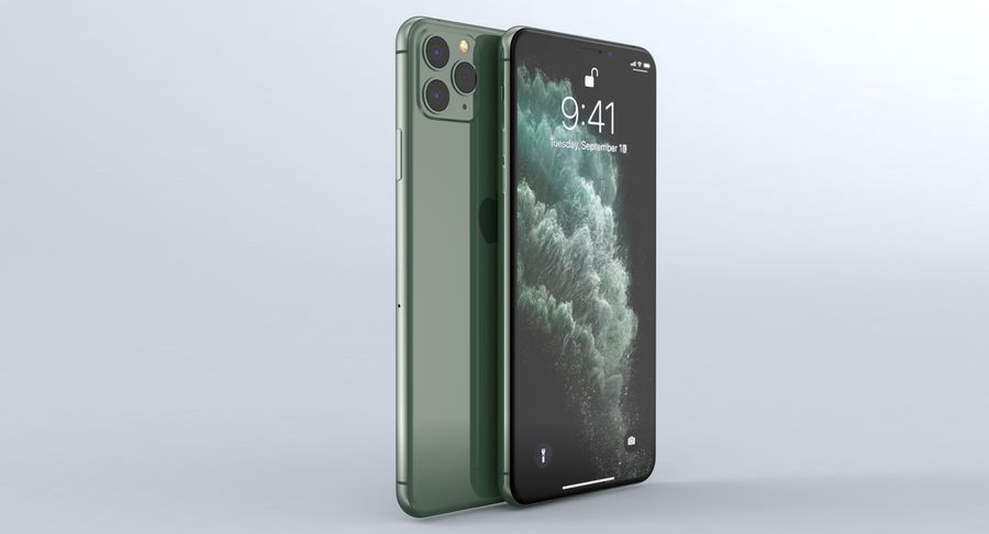 iPhone 11 Pro e iPhone 11 Pro Max e iPhone 11 royalty-free 3d model - Preview no. 31