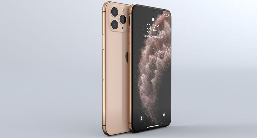 iPhone 11 Pro e iPhone 11 Pro Max e iPhone 11 royalty-free 3d model - Preview no. 12