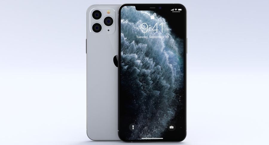 iPhone 11 Pro e iPhone 11 Pro Max e iPhone 11 royalty-free 3d model - Preview no. 6