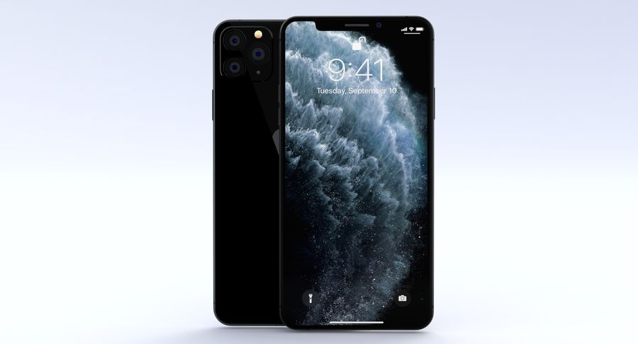 iPhone 11 Pro e iPhone 11 Pro Max e iPhone 11 royalty-free 3d model - Preview no. 20