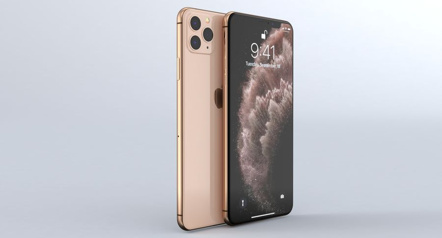 iPhone 11 Pro e iPhone 11 Pro Max e iPhone 11 royalty-free 3d model - Preview no. 30
