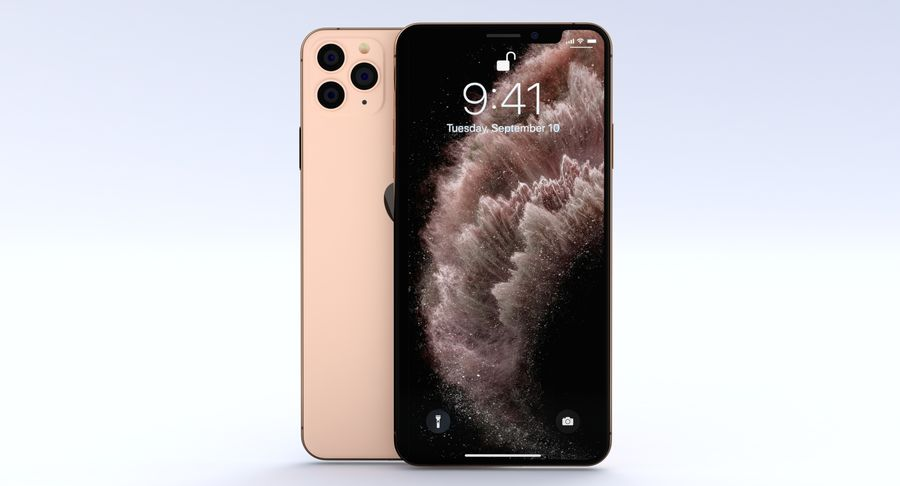 iPhone 11 Pro e iPhone 11 Pro Max e iPhone 11 royalty-free 3d model - Preview no. 22