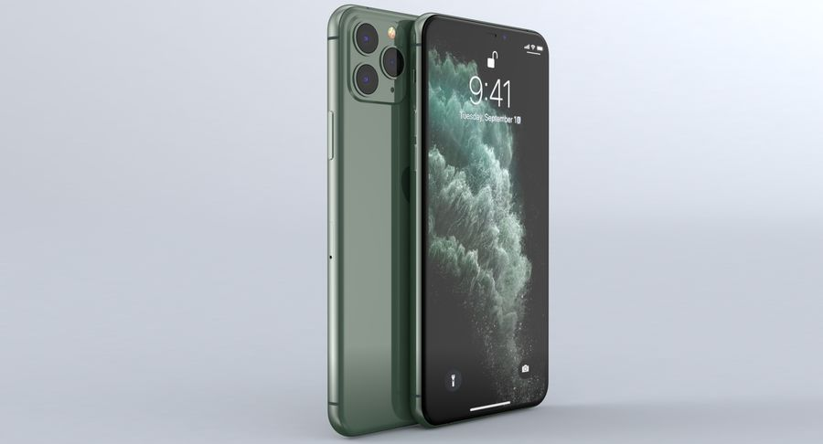 iPhone 11 Pro e iPhone 11 Pro Max e iPhone 11 royalty-free 3d model - Preview no. 13