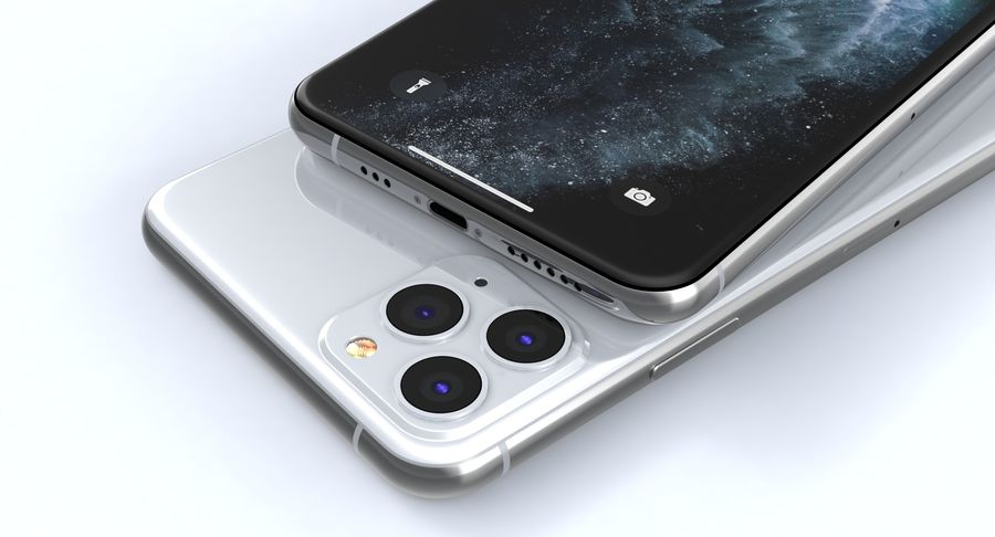 iPhone 11 Pro e iPhone 11 Pro Max e iPhone 11 royalty-free 3d model - Preview no. 10