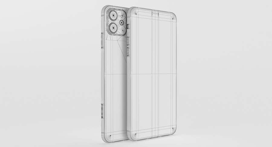 iPhone 11 Pro e iPhone 11 Pro Max e iPhone 11 royalty-free 3d model - Preview no. 57