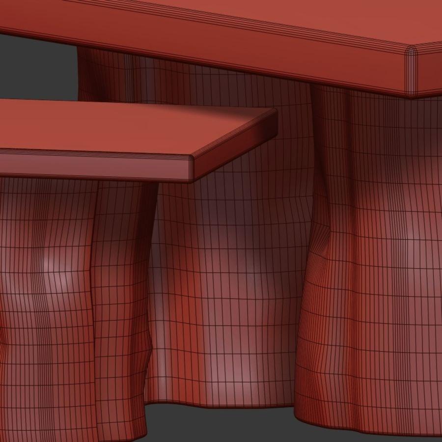 由树桩和环氧树脂制成的茶几 royalty-free 3d model - Preview no. 8
