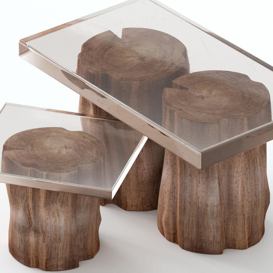 由树桩和环氧树脂制成的茶几 royalty-free 3d model - Preview no. 2