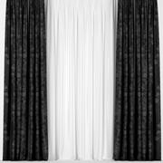Dark curtains with tulle 3d model