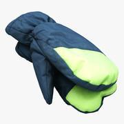 Kış Eldivenleri 01 3d model