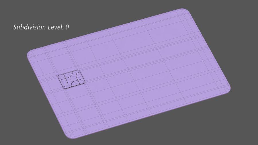 Kredietkaart royalty-free 3d model - Preview no. 12
