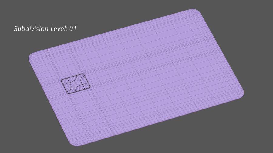 Kredietkaart royalty-free 3d model - Preview no. 13