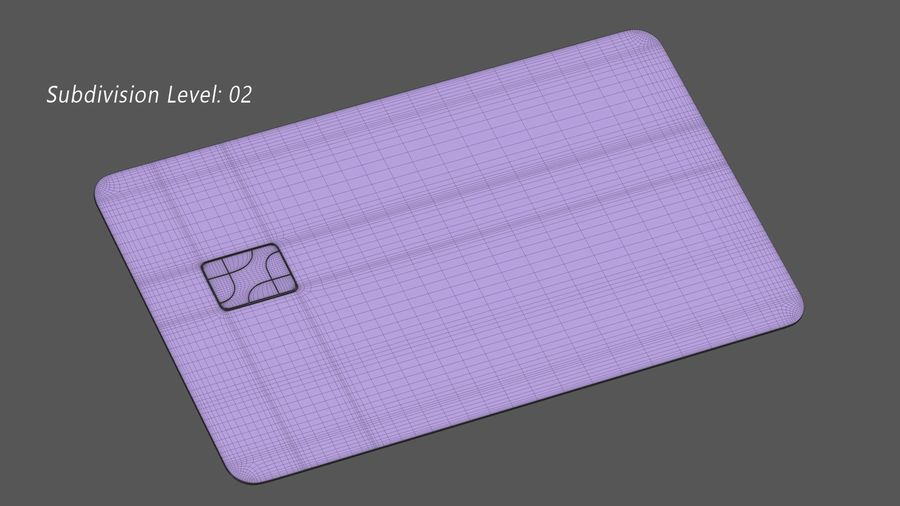 Kredietkaart royalty-free 3d model - Preview no. 14