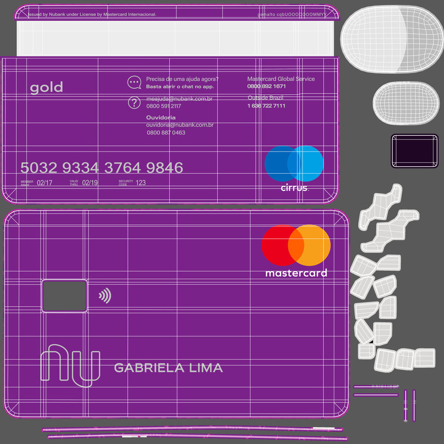 Kredietkaart royalty-free 3d model - Preview no. 18