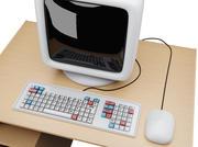 Tecknad dator 3d model