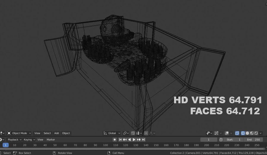 plant cell royalty-free 3d model - Preview no. 3
