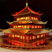 Casa antigua china modelo 3d