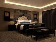 Klasyczne łóżko Sypialnia 3d model
