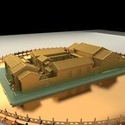 중국 안마당 3d model