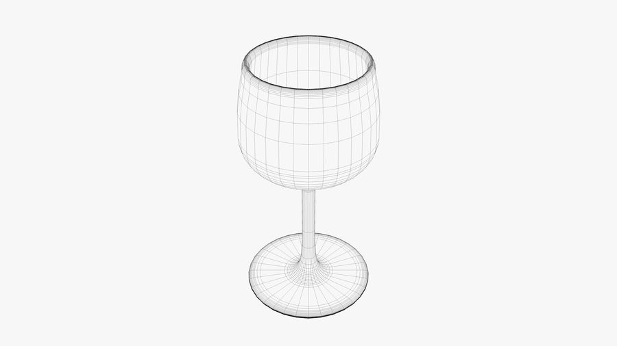Glass Wine royalty-free 3d model - Preview no. 5