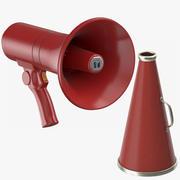 Röda megafoner 3d model