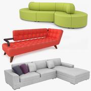 Tyg soffasamling 3d model