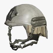 Militaire Helm Met Sporen 3d model