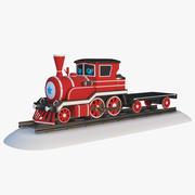 Cartoon Toy Train 3d model