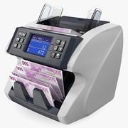 Наличный Счетчик Валют Сортировщик Счета Евро 3d model