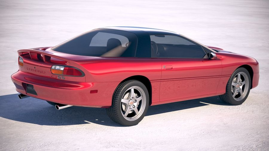 Chevrolet Camaro 1999 royalty-free 3d model - Preview no. 2