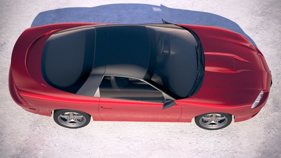Chevrolet Camaro 1999 royalty-free 3d model - Preview no. 4