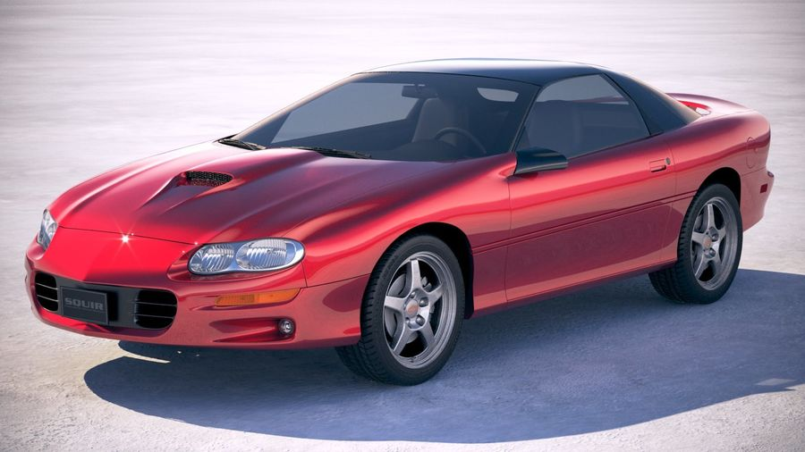 Chevrolet Camaro 1999 royalty-free 3d model - Preview no. 1