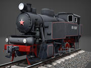 工业蒸汽箱机车9P低聚3D模型 3d model