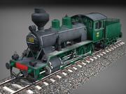 芬兰蒸汽机车Tk3-1105低聚3D模型 3d model
