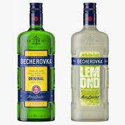 Becherovka Klasik Lemond Likör Şişeleri Koleksiyonu 3d model