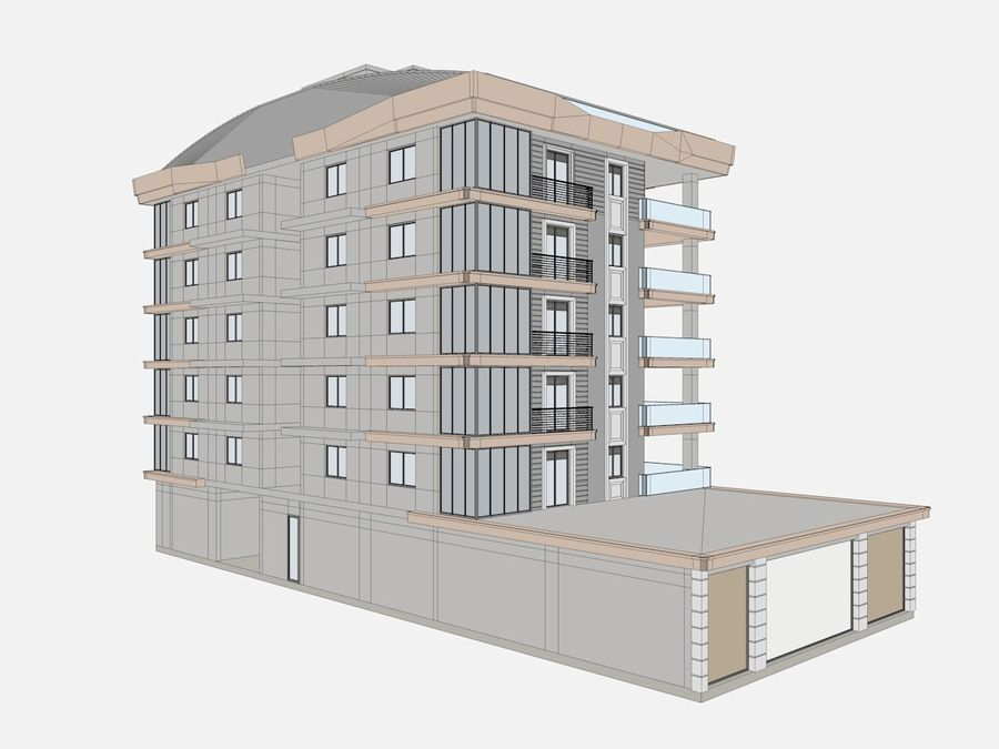 City Buildings royalty-free 3d model - Preview no. 17