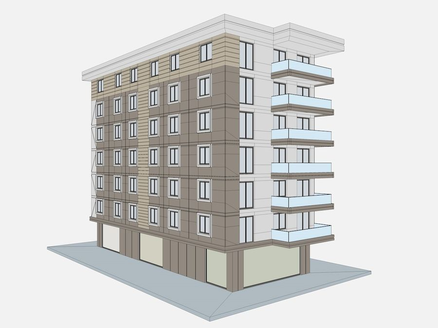 City Buildings royalty-free 3d model - Preview no. 40