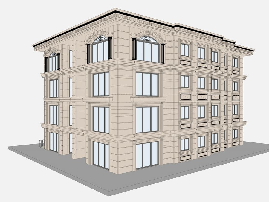 City Buildings royalty-free 3d model - Preview no. 45